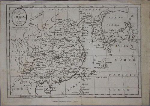 Very Fine and Rare Sea of Corea (Korea) International Map-18th C.