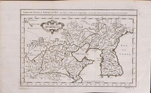Fine a Map of Korea with Sea of Corea (Mer De Corea) Described-18th C.