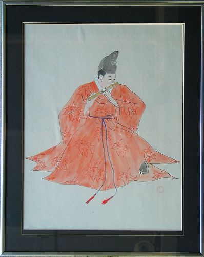 Rare/Fine Water Color Painting by Won Suk Yeon(��淵-���)(1922-2003