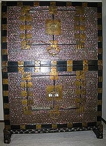 A Fine Mother of Pearl Inlaid Two Story Chest