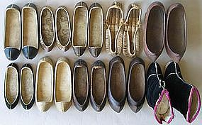 A Very Rare Group of Ten Antique Korean Shoes