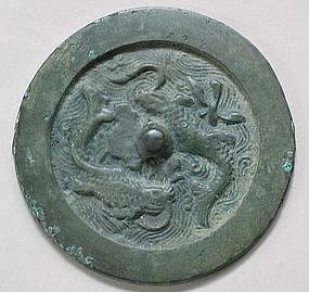A Rare and Fine Bronze Mirror