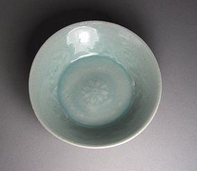 A Very Fine Sea-Green Celadon Glazed Shallow Dish
