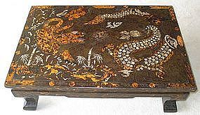 Rare Tiger and Dragon Inlaid low Table