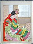 Very Fine Woodblock Print Korean Bride/Paul Jacoulet