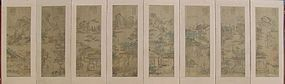 Very Fine and Rare 8 Panel Filial Piety Fold Screen