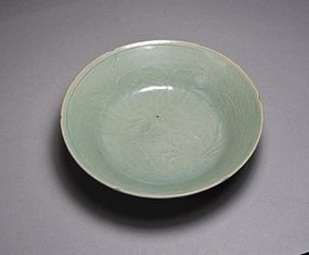 A Finely Molded Shallow Koryo Celadon Dish