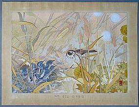 A Very Rare Woodblock Print by Tsuchiya Rakuzan