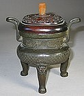 A Very Old and Fine Chinese Bronze Incense Burner