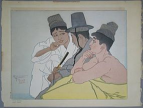 Fine Japanese Woodblock Print by Paul Jacoulet (1902-60
