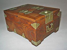 A Fine Korean Zelkova Wood Cosmetic Box (Kyung Dae)