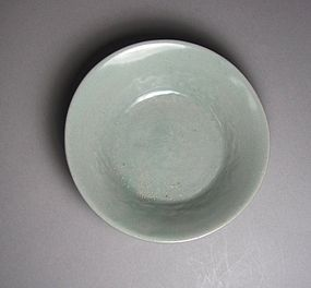A Finely Molded/Decorated Celadon Shallow Dish
