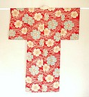 Japanese Vintage Textile Silk Crepe Juban Ro Weave
