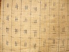 Japanese Antique Textile Cotton White Kasuri Obi Lining