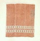 Japanese Antique Textile Cotton Bag with Katazome