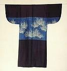 Japanese Antique Textile Katsugi Head Veil Kimono