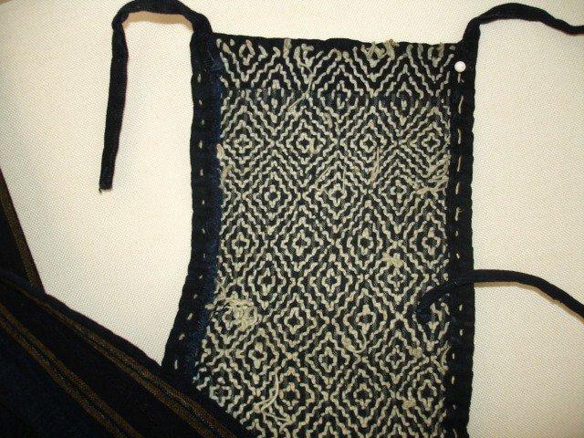Japanese Vintage Textile Sori-hiki Vest With Sashiko