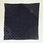 Japanese Vintage Textile Sashiko Furoshiki Indigo