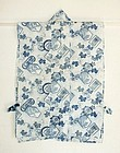Japanese Antique Textile Cotton Katazome Han-juban