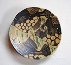 Japanese Contemporary Ceramic Plate with Fish