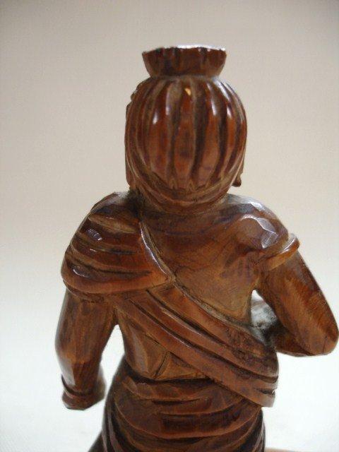 Japanese Antique Miniature Wood Buddhas Fudo