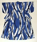 Japanese Cotton Kimono With Geometric Pattern