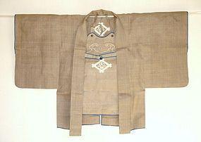 Japanese Antique Textile Samurai's Kajibanten