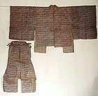 Japanese Antique Textile Asa Suo With Katazome
