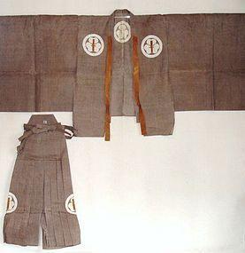 Japanese Antique Textile Asa Suo and Hakama