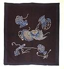 Japanese Antique Textile Tsutsugaki Futonji