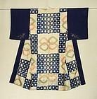 Japanese Vintage Textile Silk Katazome Juban