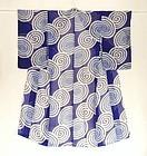 Japanese Vintage  Summer Kimono With Whirlpool