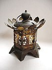 Japanese Antique Hanging Lantern Shrine Temple