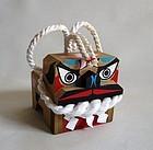 Japanese Vintage Mingei Craft Wooden Tosa Dog