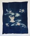 Japanese Antique Textile Tsutsugaki Futonji Shells