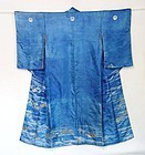Japanese Antique Textile Silk Kimono Scenery