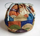Japanese Antique Textile Bag Made of Silk Crepe