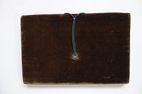 Wallet Made of Silk Velvet and Brocade