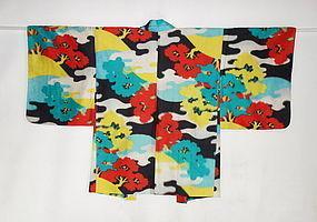 Japanese Vintage Textile Meisen Haori Woods
