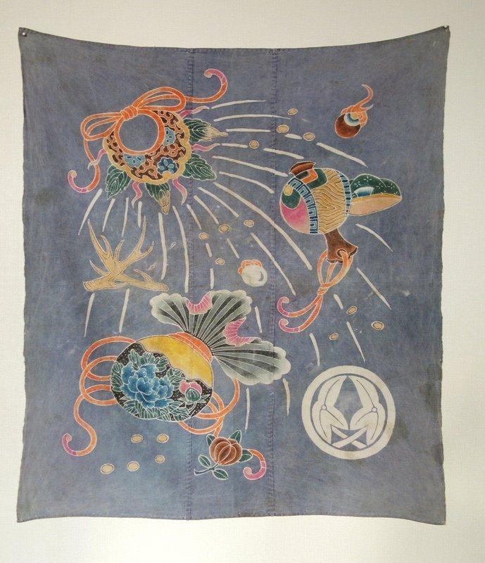 Japanese Antique Textile Tsutsugaki Furoshiki
