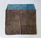Japanese Antique Textile Bag Made of Cotton with Katazome Edo