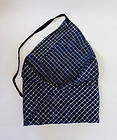 Japanese Vintage Textile Bag Made of Hand-spun  Cotton Indigo