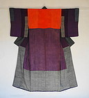 Japanese Antique Textile Silk Crepe Hagi-isho