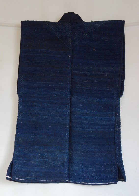 Japanese Vintage Textile Sakiori Sodenashi Dark Indigo
