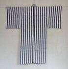 Japanese Vintage Textile Cotton Stripe Unlined Kimono-2