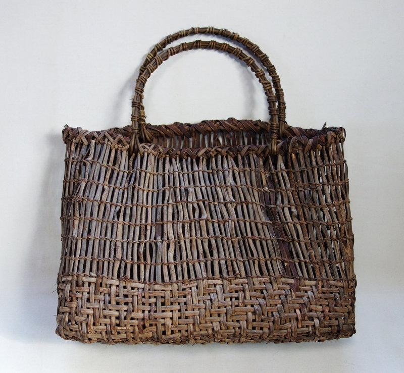 Japanese Vintage Mingei Basket Made of Yamabudo