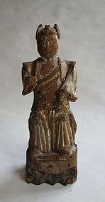 Japanese Antique Wooden Buddhist Statue 12 Shinsho