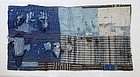 Japanese Vintage Textile Boro Small Carpet Shikimono