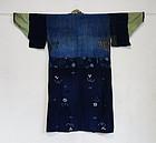 Japanese Vintage Textile Cotton Boro Noragi or Juban
