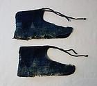 Japanese Vintage Textile Cotton Indigo Sashiko Tabi Cover